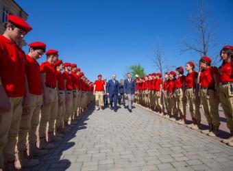 Открытие комнаты юнармейца в Грозном